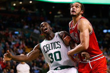 Joakim Noah Chicago Bulls v Boston Celtics