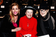 (L-R) Debbie Dickinson, Ruth Finley and Mary Louluther attend the Joanna Mastroianni Fall 2013 fashion show during Mercedes-Benz Fashion Week at The Studio at Lincoln Center on February 10, 2013 in New York City.