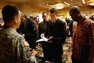 Randy Martinez Job Seekers Search For Employment At A Job Fair Held In Denver