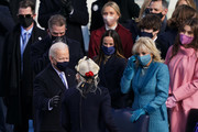 U.S. President-elect Joe Biden speaks with Lady Gaga after she performed the national anthem during the inauguration of Biden on the West Front of the U.S. Capitol on January 20, 2021 in Washington, DC.  During today's inauguration ceremony Joe Biden becomes the 46th president of the United States.