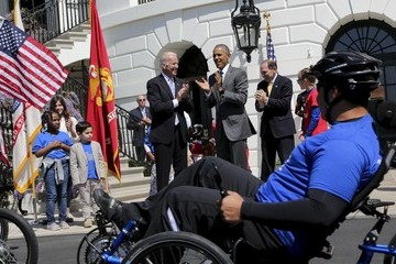 Joe Biden President Obama Welcomes Wounded Warrior Ride To The White House