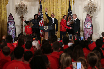 Joe Biden President And Mrs. Obama Welcome 2016 U.S. Olympians To The White House