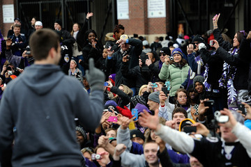 Joe Flacco Baltimore Ravens Victory Parade