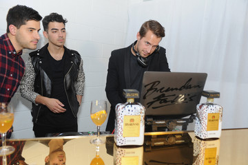 Joe Jonas Brendan Fallis Disaronno Wears Cavalli Global Launch Event