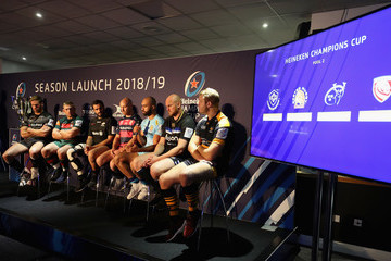 Joe Launchbury European Rugby Launch For Premiership Rugby Clubs