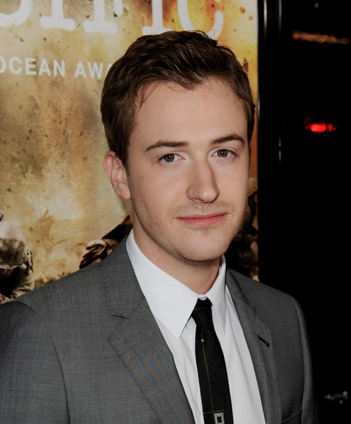 """Premiere Of HBO's """"The Pacific"""" - Arrivals [the pacific,hair,eyebrow,forehead,hairstyle,suit,chin,white-collar worker,premiere,tuxedo,jaw,arrivals,joe mazzello,california,los angeles,chinese theater,hbo,premiere,premiere]"""