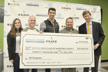 Joe McGovern Michael Phelps Is Seen Home for the Holidays to Visit the Boys & Girls Club of Harford County