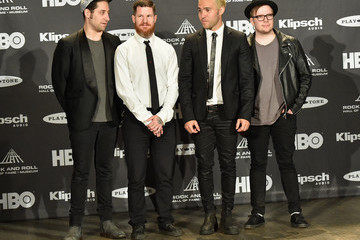 Joe Trohman Andy Hurley 30th Annual Rock And Roll Hall Of Fame Induction Ceremony - Press Room