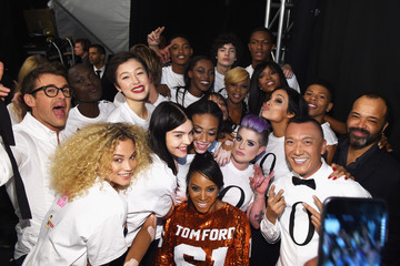 Joe Zee June Ambrose #TackleEbola At Naomi Campbell's Fashion For Relief - Mercedes-Benz Fashion Week Fall 2015
