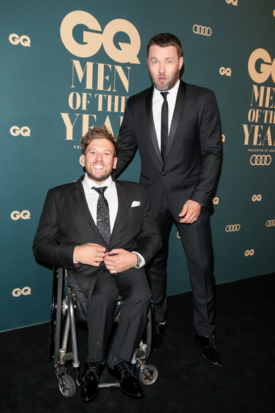 GQ Australia Men Of The Year Awards 2018 - Red Carpet [suit,tuxedo,formal wear,premiere,event,white-collar worker,award,carpet,red carpet,gq australia men of the year awards,joel edgerton,dylan alcott,gq australia men of the year awards,australia,sydney,the star]
