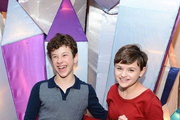 Joey King Nolan Gould Celebs at the Queen Mary's Annual Holiday Event