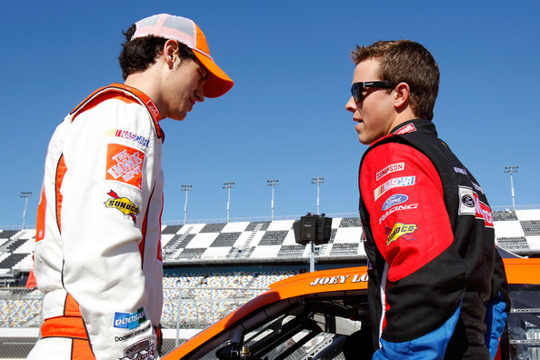 Trevor Bayne and Joey Logano - 2011 NASCAR Daytona Speedweek - Day 2