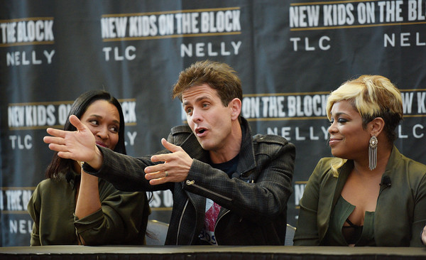 New Kids on the Block Press Conference [new kids on the block press conference,event,photography,advertising,joey mcintyre,t-boz,chilli,madison square garden,new york city,tlc]