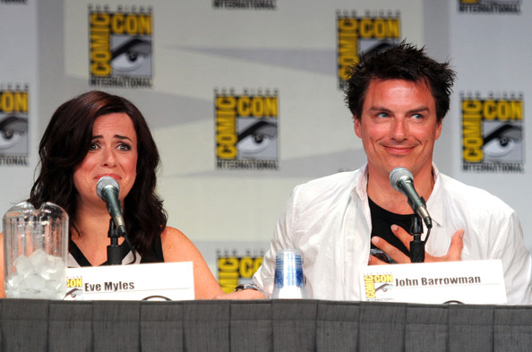 "Starz ""Torchwood"" Panel - Comic-Con 2011 [news conference,fiction,event,media,comics,spokesperson,book,publication,world,convention,eve myles,john barrowman,san diego,california,starz ``torchwood panel,starz ``torchwood panel - comic-con]"