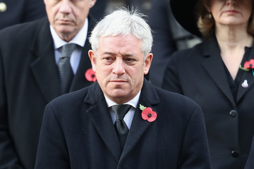 John Bercow The Royal Family Lay Wreaths at the Cenotaph on Remembrance Sunday