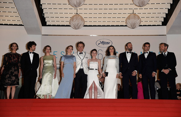 'The Lobster' Premiere - The 68th Annual Cannes Film Festival [photograph,dress,event,gown,ceremony,formal wear,fashion,red carpet,carpet,bride,the lobster premiere - the 68th annual cannes film festival,premiere,r,lea seydoux,jessica barden,john c. reilly,ariane labed,ben whishaw,angeliki papoulia,rachel weisz]