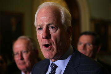 John Cornyn Senate Lawmakers Address The Press After Their Weekly Policy Meetings