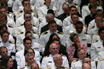 John Glenn Memorial Service For Neil Armstrong Held At National Cathedral