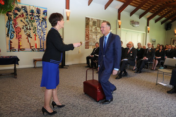 John Key John Key Officially Knighted at Auckland's Government House