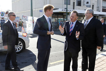 John Key Gerry Brownlee Prince Harry Visits New Zealand - Day 4