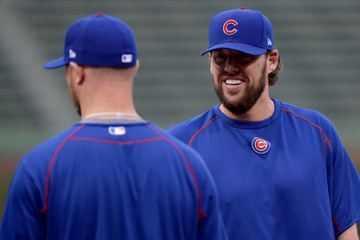 John Lackey World Series - Cleveland Indians v Chicago Cubs - Game Three
