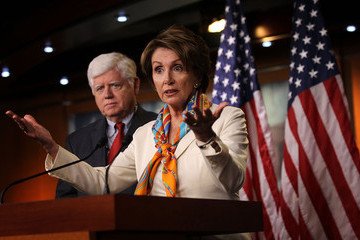 John Larson Nancy Pelosi Holds Weekly Press Conference