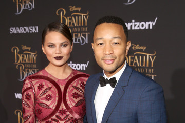 John Legend Chrissy Teigen The World Premiere Of Disney's Live-Action 'Beauty And The Beast'