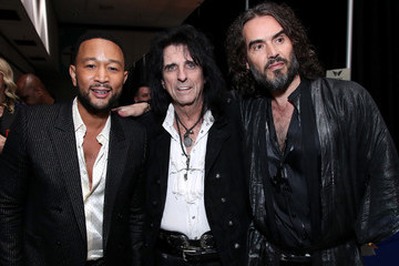John Legend Russell Brand MusiCares Person Of The Year Honoring Aerosmith - Inside