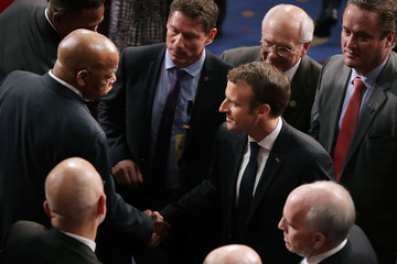 John Lewis French President Emmanuel Macron Delivers An Address To Joint Meeting Of Congress