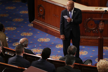 John Lewis Paul Ryan Swears In Members Of The 115th Congress