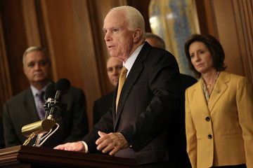 John McCain House Speaker John Boehner Along with Senate and House Leaders Signs National Defense Authorization Act