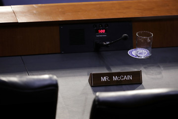 John McCain Senate Intelligence Committee Holds Hearing On Election Security
