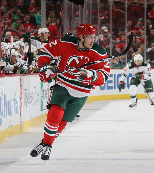 finest selection a7ab3 52a7d John Moore Photos Photos - Minnesota Wild v New Jersey ...