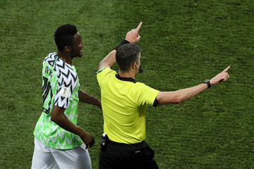 John Obi Mikel Nigeria Vs. Iceland: Group D - 2018 FIFA World Cup Russia