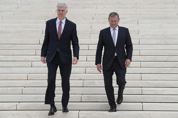 John Roberts  Formal Investiture Ceremony Held at Supreme Court for Justice Neil Gorsuch