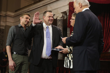 John Tester Vice President Biden Holds Senate Ceremonial Swearing In