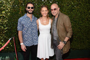 (L-R) Actors Jason Behr, Kadee Strickland and designer John Varvatos attend the John Varvatos 12th Annual Stuart House Benefit at John Varvatos on April 26, 2015 in Los Angeles, California.