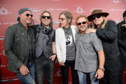 (L-R) Recording artists Chad Smith, Daxx Nielsen, Tom Petersson, Michael Anthony, and Robin Zander attend the John Varvatos 13th Annual Stuart House benefit presented by Chrysler with Kids' Tent by Hasbro Studios at John Varvatos Boutique on April 17, 2016 in West Hollywood, California.