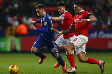 Johnnie Jackson Charlton Athletic v Cardiff City   - Sky Bet Championship
