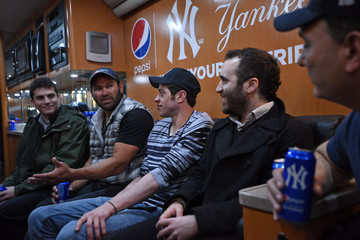 Johnny Damon Pete Davidson and Johnny Damon Join Pepsi to Celebrate Yankees Opening Day