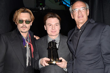 Johnny Depp Backstage at the 18th Annual Hollywood Film Awards
