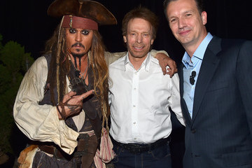 Johnny Depp Jerry Bruckheimer 'Worlds, Galaxies, And Universes: Live Action At The Walt Disney Studios Presentation At Disney's D23 EXPO 2015