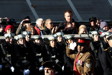Johnson Beharry The Royal Family Lay Wreaths at the Cenotaph on Remembrance Sunday