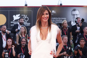 "Sara Cavazza Facchini walks the red carpet ahead of the ""Joker"" screening during the 76th Venice Film Festival at Sala Grande on August 31, 2019 in Venice, Italy."