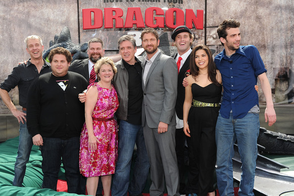 Jonah hill and bonnie arnold photos photos premiere of dreamworks premiere of dreamworks animations how to train your dragon arrivals ccuart Gallery