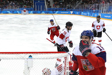 Jonas Hiller Ice Hockey - Winter Olympics Day 9