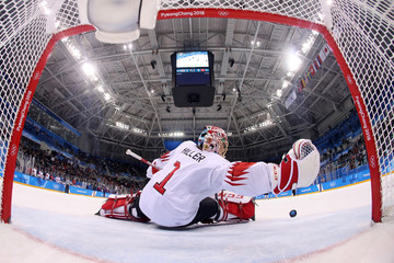 Jonas Hiller Ice Hockey - Winter Olympics Day 8