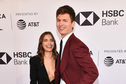 "Ansel Elgort and Violetta Komyshan attend a screening of ""Jonathan"" during the 2018 Tribeca Film Festival at SVA Theatre on April 21, 2018 in New York City."