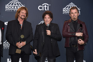 Jonathan Cain 32nd Annual Rock & Roll Hall Of Fame Induction Ceremony - Press Room
