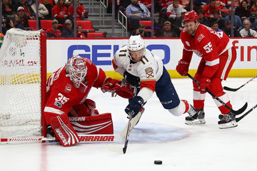 Jonathan Huberdeau Florida Panthers v Detroit Red WIngs
